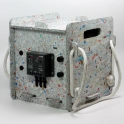 caixa modular desmontável projetada em chapa ecológica