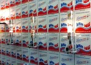 a primeira caixa da lava à la Warhol