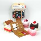 mini kit costura com almofada de agulhas de feltro