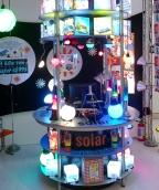 nosso estande de iluminação sustentável