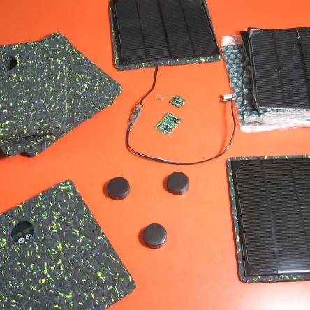 acabamento em celula fotovoltaica