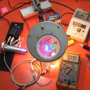 Circuito da luminária premiada TRIPÉ passa por teste de carga