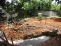 4 dias da obra -muita lama