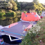 Pod docked to floating garden