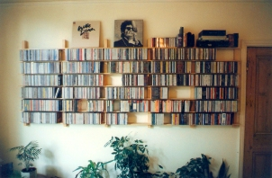 hardwood CD rack